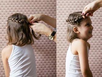 تسريحات شعر قصير للبنات 7