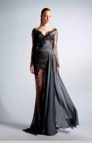 c92b0956cd518 فساتين زهير مراد الفساتين المصنوعة من قماش الدانيل ...