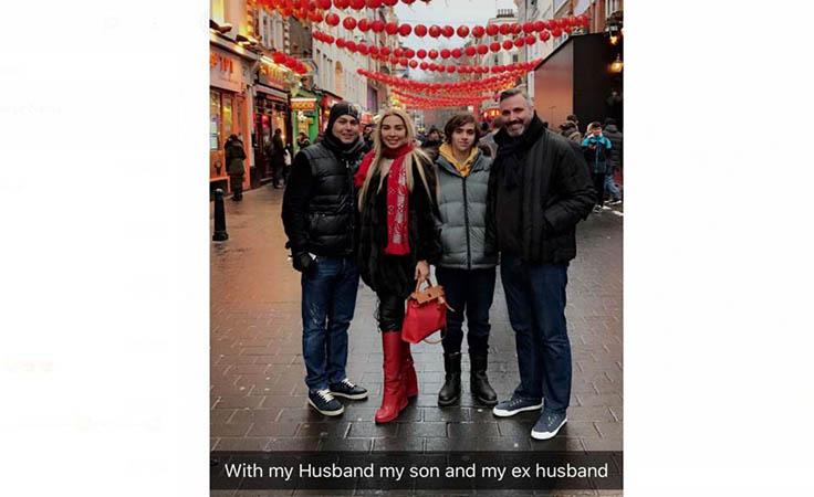 شاهدي بالصورة جويل مردينيان مع زوجيها السابق والحالي نواعم