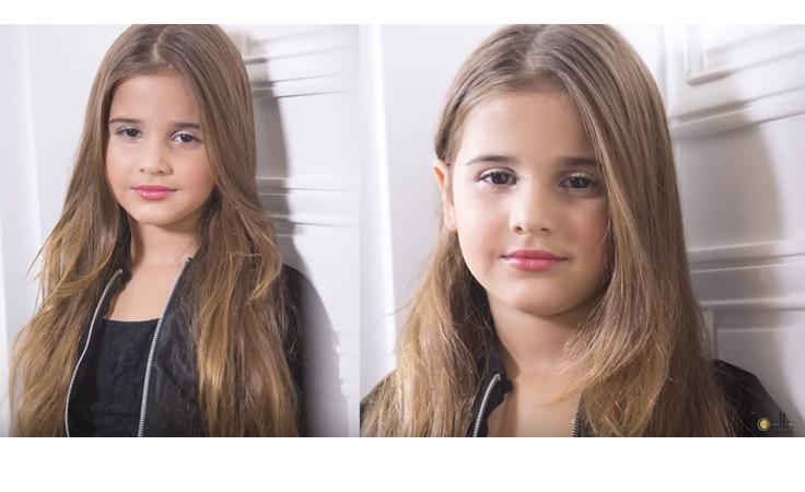 ابنة جويل مردينيان تضع المكياج كالمحترفين في أول فيديو لها
