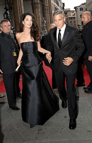 أجمل اللقطات الرومانسية لأمل وجورج كلوني