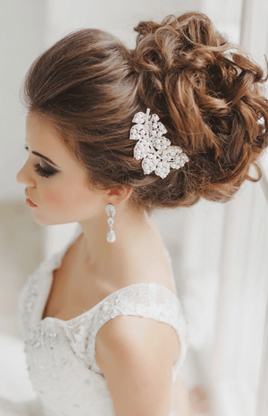 c6aa41924 تسريحات شعر راقية للعروس الرومانسية | نواعم