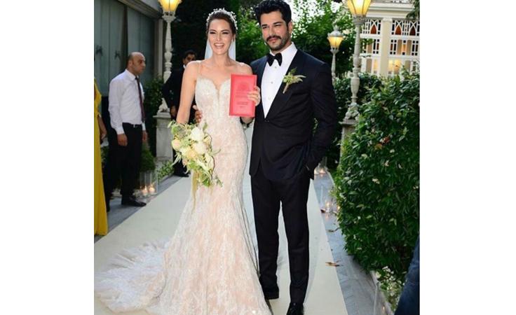 بالصور والفيديو:  بوراك أوزجفيت وفهرية إفجين في حفل زفاف أسطوري
