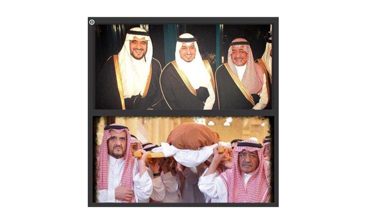 صورتان جمعتا بين الحياة والموت والحزن والضحك بين الامير مقرن بن عبد العزيز ونجله المنصور