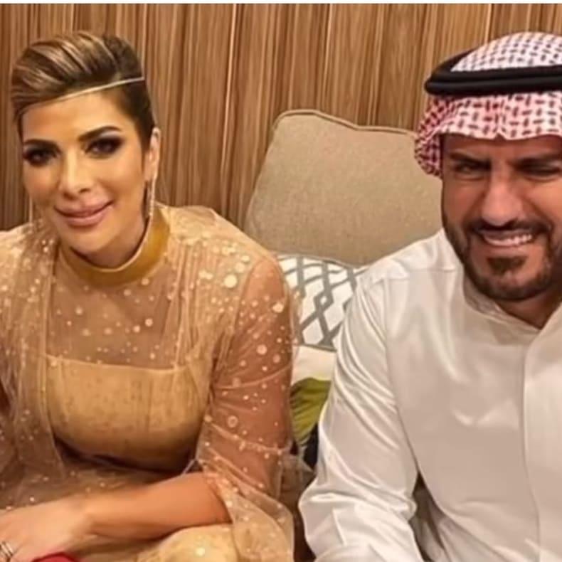 الصورة الأولى من زواج أصالة وفائق حسن