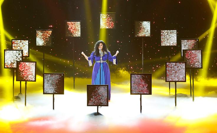 خاص - الطفلة إيمان بيشه تحصد لقب Arabs Got Talent وفستان نجوى كرم معاً