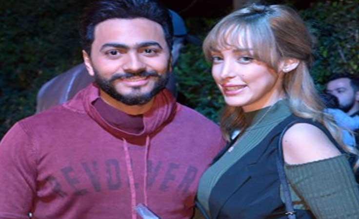 هذا ما فعلته بسمة بوسيل خلف الكواليس في حفل تامر حسني بموازين