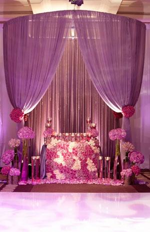 الوان الأوركيد البنفسجى موضة تجهيزات حفل الزفاف لعام 2014