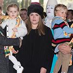 توأم الأمير ألبيرت يحضران عروض السيرك الوطنية