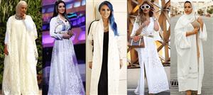 استوحي من أيقونات الموضة الأبيض لقفطاناتك في رمضان والعيد